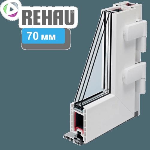 Входные пластиковые двери REHAU 70